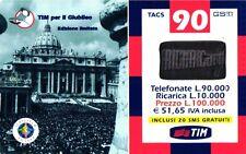 SCHEDA RICARICA USATA TIM GIUBILEO 90 30 SETT.2002 20M VARIANTE TAGLIO