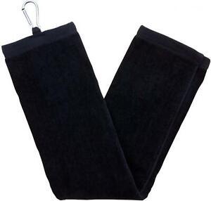 ZUZIFY Tri-Fold Velour Dobby Hemmed Golf Towel. IU0795