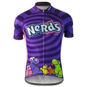 Nerds Ride Like a Nerd Purple Cycling Jersey