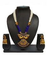 Bollywood Indian Ethnic Black Pearl Fashion Traditional Necklace set For Women