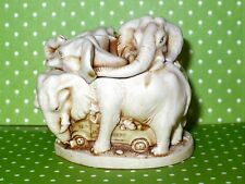 "Harmony Kingdom Calvesbert Ed's Safari ""The Big Day"" Elephants 1st Series Vgc"