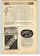1889 Paper Ad The Franco-American Food Co Snider's Tomato Soup Whitman Chocolate