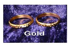 WEDDING RINGS gold silver embossed adjustable card cake topper decoration 2 6 12