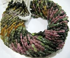 10 Strand Natural Multi Tourmaline Beads Oval Approximately 4x5mm Strand 14 Inch