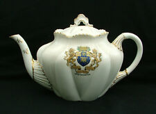 Wileman & Shelley Crested China Dainty pattern teapot arms of Westminster