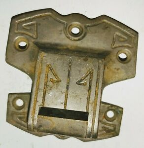 Antique Ice Box Hardware. 2 Hinges.  Art Deco like Style.