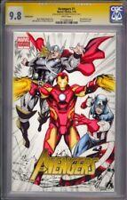 Avengers #1 CGC SS 9.8 Original sketch by Robert Atkins and Jeff Balke