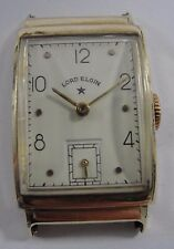 Vintage 14K Yellow Gold Wind Up Lord Elgin Watch Case Working .585 #LEW33241