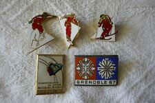 insignes broches no pins SKI Grenoble 1967 descente slalom snowboard émaillés