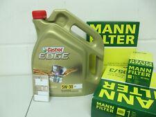Hombre petróleo, aire, espacio interior-flter y 5ltr. 5w30 castrol aceite del motor opel corsa e