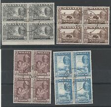 KELANTAN 1961 SULTAN PICTORIAL RANGE TO 20C BLOCKS USED