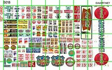 5018 DAVE'S DECALS BIZ SETS  1/2 SHEET GROCERY STORE MARKET WINDOW PRICE DISPLAY