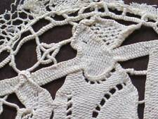 Handmade Antique Figural Hunter Game Needlelace Cameo Applique Lace Insertion