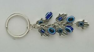 KEY CHAIN EVIL EYE WITH MULTIPLE HANDS