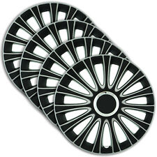 "Hubcaps 16"" LEMANS 4 x Wheel Trim Cover BLACK+SILVER for RENAULT"