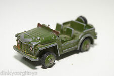 DINKY TOYS 674 AUSTIN CHAMP ARMY JEEP GOOD CONDITION