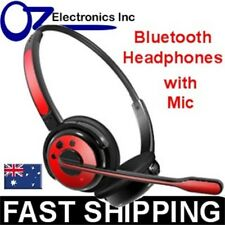 Wireless PS3 Bluetooth Stereo Headset Mic playstation 3 RED iphone 5 6 HTC