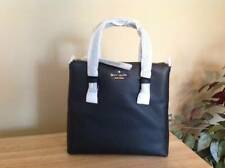Kate Spade Jackson Street Hayley Pebbled Leather Top Zip Tote Black Gold NWT