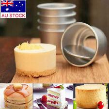 AU DIY 2''Mini Cake Pan Removable Bottom Pudding Mold Baking Tools Cake Mould SH