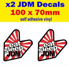 2x EAT SLEEP JDM Divertente Decalcomania Adesivi Paraurti Euro Dub Drift HONDA JAP STREET RACE