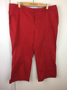 Tommy Hilfiger Woman Red Austin Fit Cropped Jeans Size 18 EUC