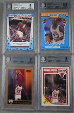 Lot of 4 Michael Jordan 1989/90 1990/91 Fleer All-Star Skybox BGS 9 8.5 8