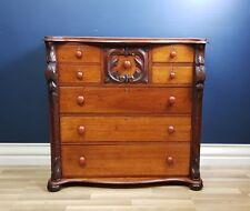 Antique Cedar Chest of Drawers Circa 1880, Restored, Dresser, Tallboy, Victorian