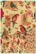 Carta di riso-BUNTE Bird-Per Decoupage Scrapbook foglio A/4