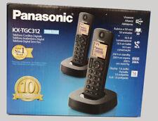 TELEFONO FIJO INALAMBRICO DOBLE - PANASONIC KX-TGC312 DUO - LCD - NEGRO - NUEVO