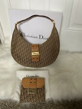 Authentic Christian Dior Handbag In Brown And Matching Purse