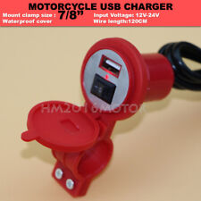Motorcycle USB Charger For Suzuki Vstrom 650 1000 DL650 DL1000 Red
