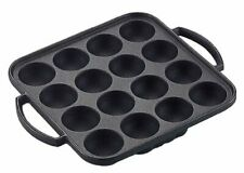 New listing Takoyaki 16 holes Iron Grill Pan Ih/gas compatible Weight 2.2kg Made in Japan