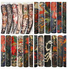 3pairs Fake Stretchy Temporary Slip On Tattoo Sleeve Arm Stockings Tatoo Kit