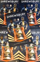 SHREWSBURY TOWN v LIVERPOOL  FA CUP 4th Rd PROGRAMME   2019/20 Free UK Post