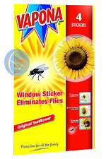 VAPONA FLY KILLER WINDOW STICKERS PACK OF 4.