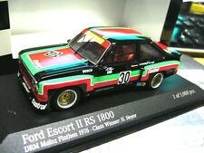 FORD Escort MKII RS1800 Gr.5 DRM Heyer Zakspeed #30 1976 RAR Minichamps 1:43