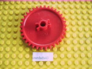 K'nex Spare Parts - Crown Gear Cog Medium 55mm dia.(#90993) Red x 2 Pieces
