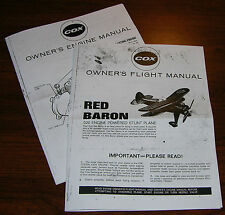 COX .020 RED BARON AIRPLANE OWNERS FLIGHT INSTRUCTION AND 020 ENGINE MANUAL