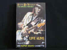 Stevie Ray Vaughan And Double Trouble. Live Alive. Cassette Tape. 1986.