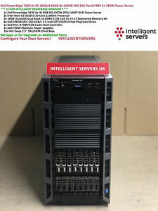 Dell PowerEdge T630 2x E5-2650v3 64GB 8x 100GB 6G SSD PercH730P Tower Server