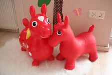 2 Rody Hüpfpferd Rody rot Sprungpferd Hüpftier Sprungtier Jako-o Jakoo + Esel