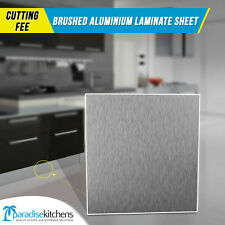 CUTTING FEE FOR HEIGHT ONLY, ONE SIZE ONLY brushed aluminium laminate kickboard