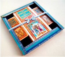 1950 Jewish ORGINAL 6 HAGGADAH GIFT SET Judaica VELVET Hebrew SCROLL Passover
