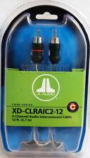 JL AUDIO XD-CLRAIC2-12 2-CHANNEL 12 FEET CAR AUDIO RCA CABLE FLEX QUAD NEW