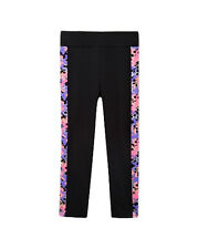 Freestyle by Danskin Girls Gymnastic Capri Legging Black and Print Design