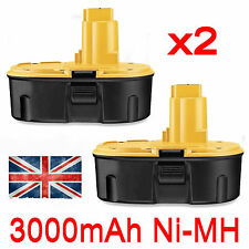 2x 3.0AH 18V NI-MH Battery For Dewalt DC9096 DE9095 DE9096 DE9099 DW9096