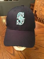 MLB Seattle Mariners US Flag Military Black Hat Baseball Cap Embroidered Boeing