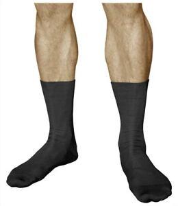 Mens Non-Elastic Loose-Top 98% COTTON Soft Gentle Grip Diabetic Socks - VITSOCKS