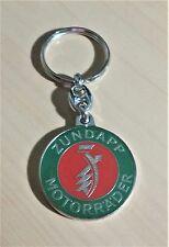 Zündapp Schlüsselanhänger grün-rot - Maße Emblem 37mm