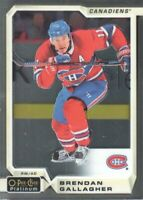 2018-19 O-Pee-Chee Platinum #138 Brendan Gallagher Montreal Canadiens